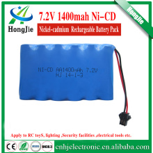 nicd aa cell pack 7.2v 1400mah rechargeable battery Ni CD AA high quality batteries for rc boat toy