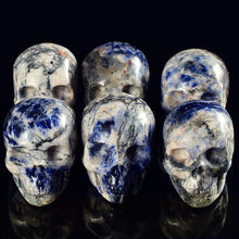 1 Piece Natural Sodalite Crystal Skull Crystal healing home decor gift For Sale