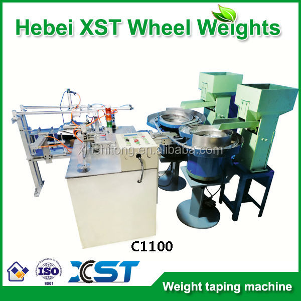 adhesive wheel balancing weight machine