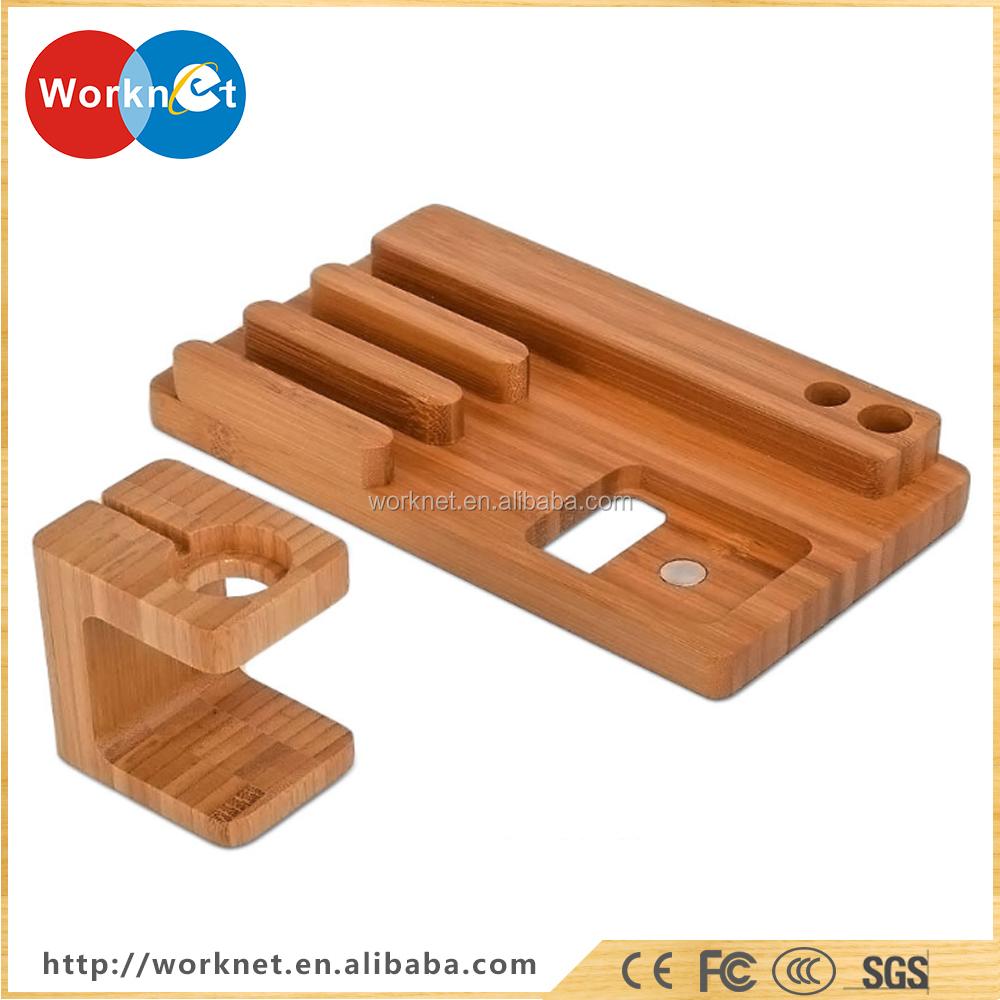 4 ports usb hub desktop handy bambus holz ladestation f r. Black Bedroom Furniture Sets. Home Design Ideas