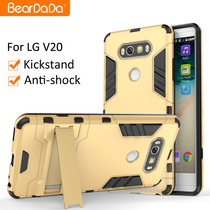 Attractive Appearance Shockproof kickstand case for lg v20