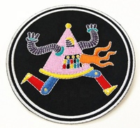 Factory direct sales Custom wolf embroidery patches /Wholesale Embroidered Patch