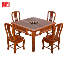 chinese hot pot tables and chairs used for restaurant