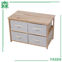 Yasen Houseware High Quality Great Value Cheap Wooden Storage Cabinet With Fabric