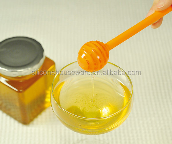 100% Food Grade Honey Dipper Stick Server for Honey Jar Dispense Drizzle Honey
