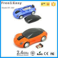 Charming racing car wireless gift mouse