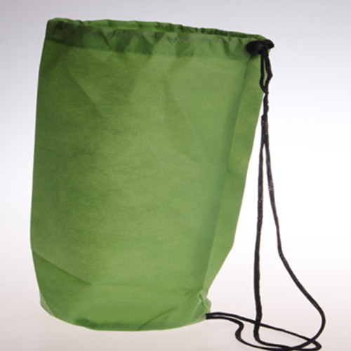 round non-woven rope handle drawstring bag