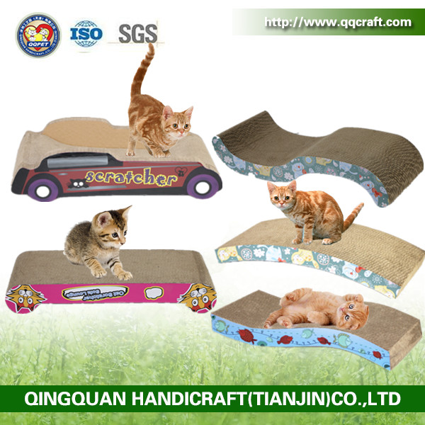 Aimigou Cat Scratcher Cardboard Kitty Couch Cat Scratching Sofa Bed