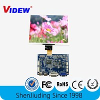 8inch lcd vga monitor with keyboard adjustment and 1024x768 resolution