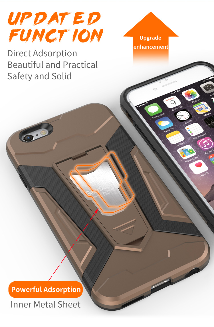 2017 Hybrid 2 in 1 shockproof for iphone 6s case,cell phone case for iphone 6 6s,cover for iphone 6 case