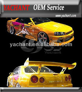 Skyline R34 BN Style FRP Body Kit Front Bumper Rear Bumper Side Skirt