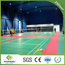 High quality used outdoor badminton PVC/plastic floor