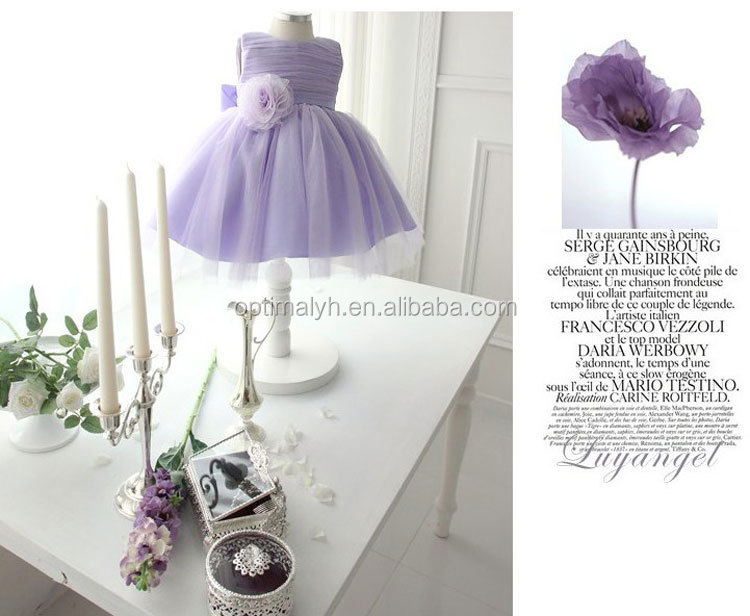 Girls lavender satin chiffon boutique tutu dress