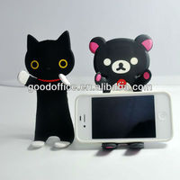 New fashion with folding soft PVC cell phone stand