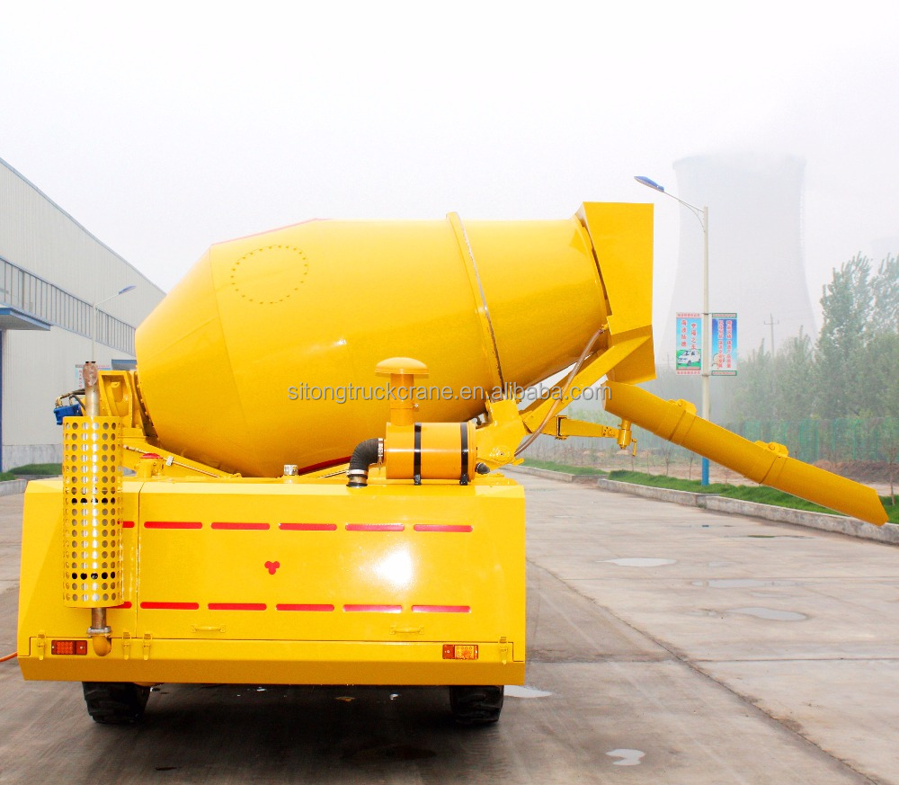 4X4 Mini Hydraul Loader Used Concrete Mixer Truck With Pump