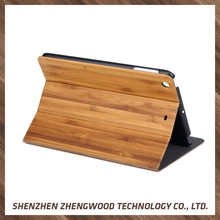 Factory price smart phone accessories cheap wood case leather wallet case for ipad air2