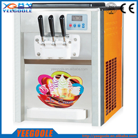 25L commercial 3 flavors table top used italian soft serve ice cream machine