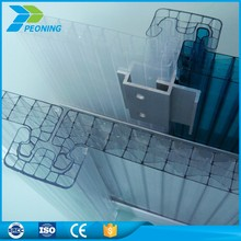 Sunshine multiwall polycarbonate pc u locking hollow sheet