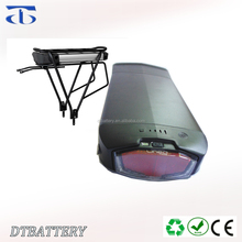 For high energy folding bike 36v electric bicycle battery 36v 12ah li-ion rear rack battery pack