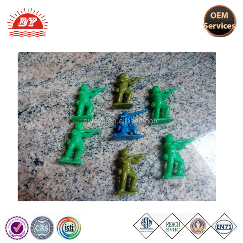 ICTI certificated customized made 3d small Plastic Toy Soldiers mini human figures