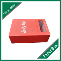 HARD PAPER BOARD PAPER GIFT BOX WITH CLEAR PVC WINDOW ON SALE