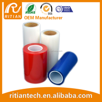 pe adhesive film transparent colored plastic film