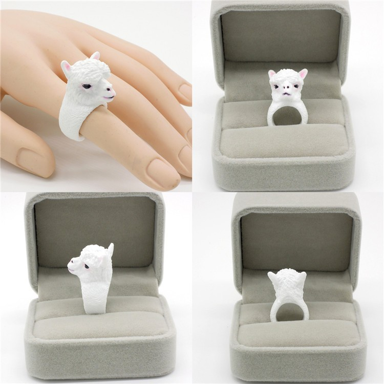 Daihe children jewelry alpaca shape resin ring