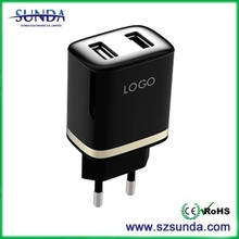 newest design UV coating surface finished quick charger 2A wall charger EU version