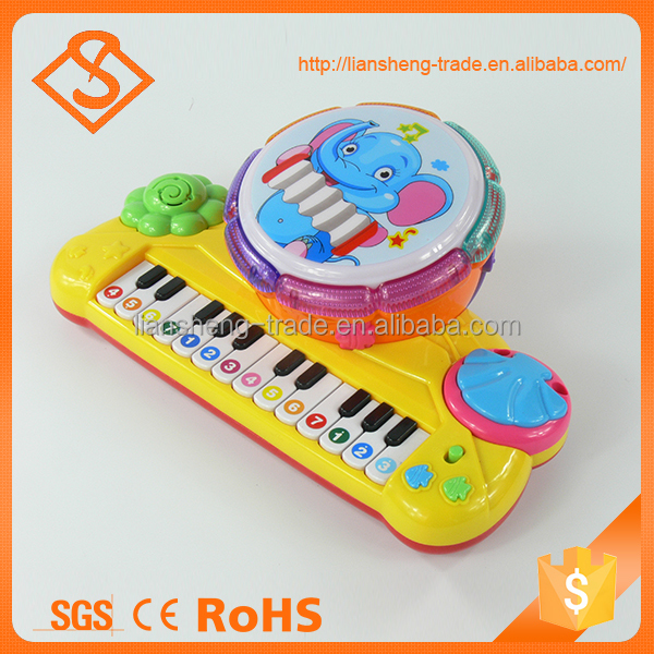 Best battery operated infant instrument toy multifunction piano drum toys musical sets