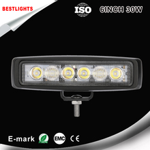 6 inch Mini 30W LED Light Bar 12V 24V Motorcycle LED Bar Offroad 4x4 ATV Daytime Running Lights Truck Tractor Warning Work Light