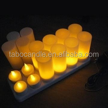 rechargeable tealight candles with plastic lamp
