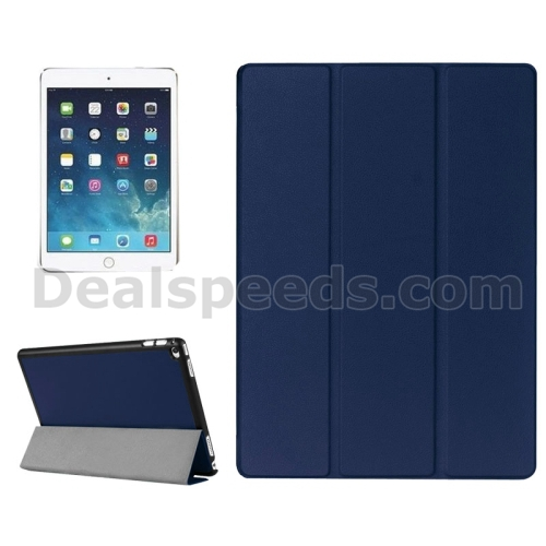 Three Folds for iPad Pro 12.9 Leather Case PU PC Case Stand Cover