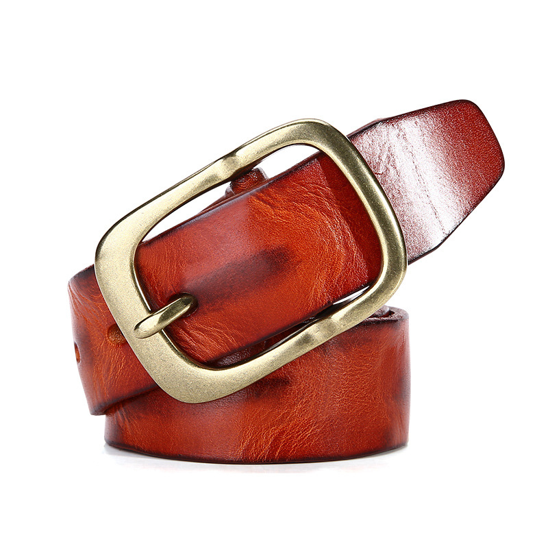 Fashion Handmade Red Genuine Leather <strong>Belt</strong> for Men