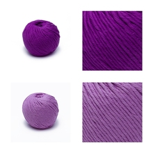 100% organic cotton chunky deeporchid colored thick soft hand knitting crochet yarn for wholesale price in bulk dyed