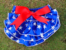 Wholesale baby diaper cover infant baby ruffler bloomer 4th of July in stock