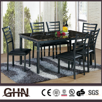 Factory directly sale fashionable metal leg UB MT856 japanese dining table made in China