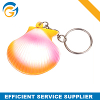 Plastic Adult Toys Shell Shaped Stress Ball Keychain