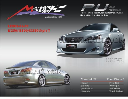 PU auto body kits for 06-08-IS250/IS300/IS350