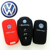Silicone car key cover holder case bag for VW