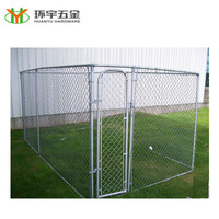 Large outdoor dog cage chain link pet enclosure for large dog