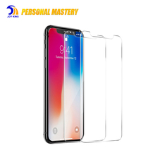 Mobile accessory For Apple x 9H 2.5D 0.33mm mobile phone screen protector, 3D full cover film tempered glass for iphone 7/8 plus