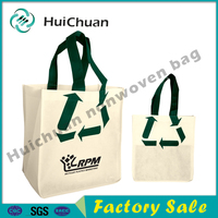 Hot sale recyclable nonwoven shopping bag customized tote bag