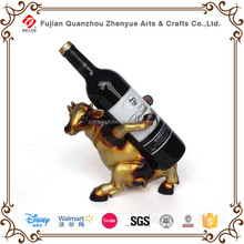 2015 Cow Shape Design resin Animal Wine Bottle Holders