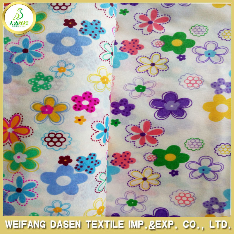 wholesale 100% polyester printed fabric and textile for bedding