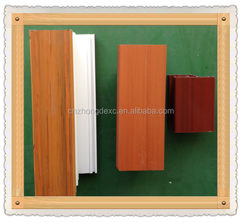 ASA wood color upvc profile for door and window