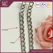 High quality Silver twist chain for wallets,bag accessories metal chain