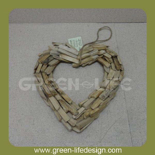 Hanging heart wholesale wood craft supplies