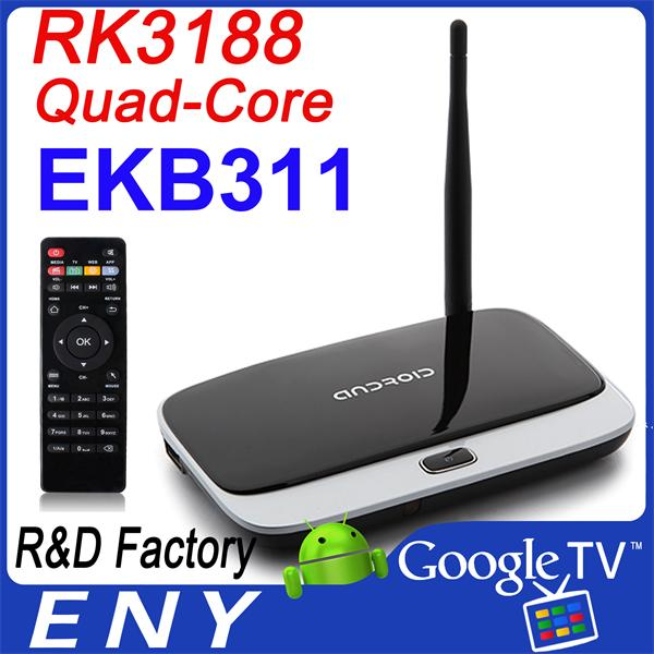 EKB311 android set top box RK3188 Android 4.2.2 Quad Core jalva tv box 2GB/8GB with Remote Control