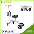 Steerable and foldable Knee Walker scooter disabled Walker