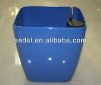 Square stoving varnish flower pot,planter, pot with water indicator